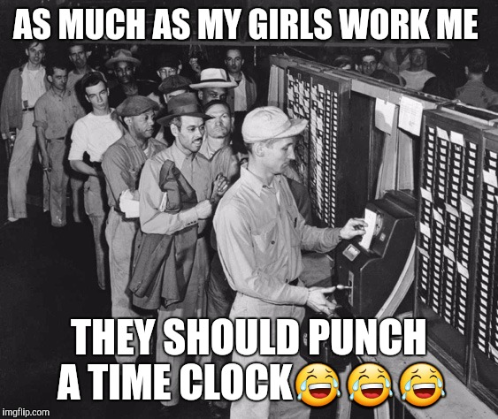 1bw8mv punching the time clock imgflip