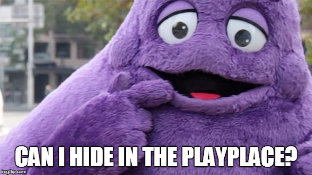 CAN I HIDE IN THE PLAYPLACE? | made w/ Imgflip meme maker