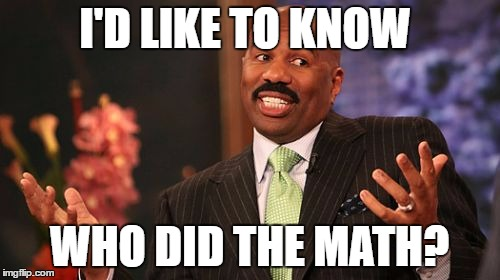 Steve Harvey Meme | I'D LIKE TO KNOW WHO DID THE MATH? | image tagged in memes,steve harvey | made w/ Imgflip meme maker