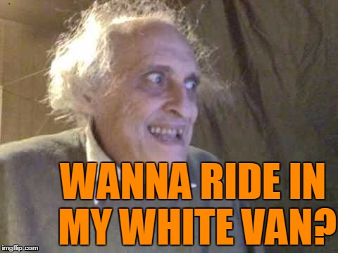 WANNA RIDE IN MY WHITE VAN? | image tagged in troll | made w/ Imgflip meme maker