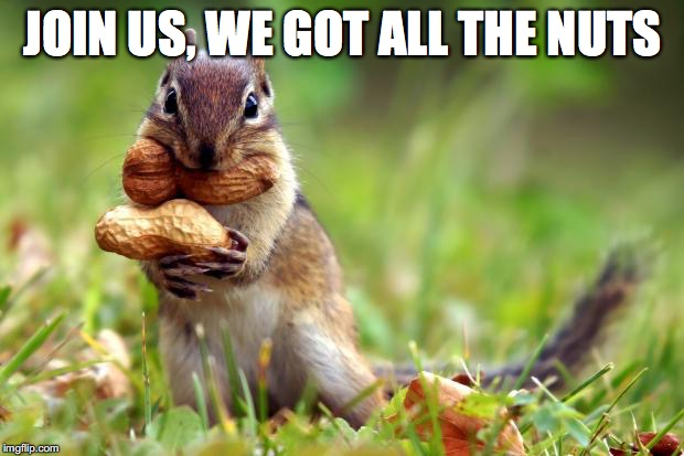 JOIN US, WE GOT ALL THE NUTS | made w/ Imgflip meme maker