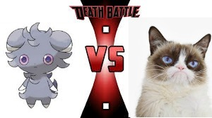 DEATH BATTLE ESPURR VS MOODY CAT | . . | image tagged in death battle espurr vs moody cat | made w/ Imgflip meme maker
