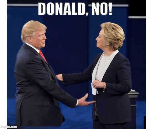 DONALD, NO! | image tagged in donald,no | made w/ Imgflip meme maker