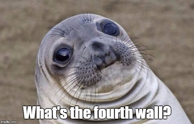 Awkward Moment Sealion Meme | What's the fourth wall? | image tagged in memes,awkward moment sealion | made w/ Imgflip meme maker