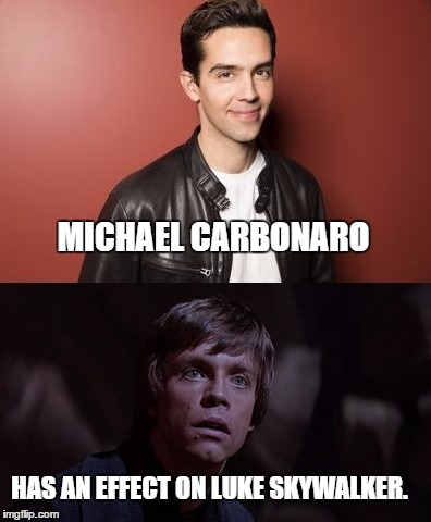 Michael Carbonaro Has an Effect | MICHAEL CARBONARO HAS AN EFFECT ON LUKE SKYWALKER. | image tagged in luke skywalker,return of the jedi,star wars,magic,michael | made w/ Imgflip meme maker