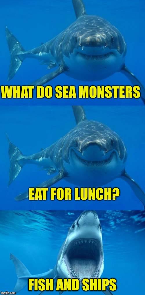 Bad shark pun imgflip for Fish in the sea meme