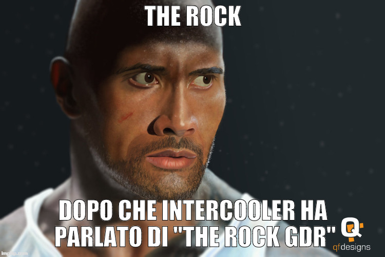 "THE ROCK DOPO CHE INTERCOOLER HA PARLATO DI ""THE ROCK GDR"" 