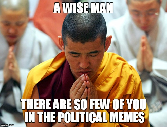 A WISE MAN THERE ARE SO FEW OF YOU IN THE POLITICAL MEMES | made w/ Imgflip meme maker