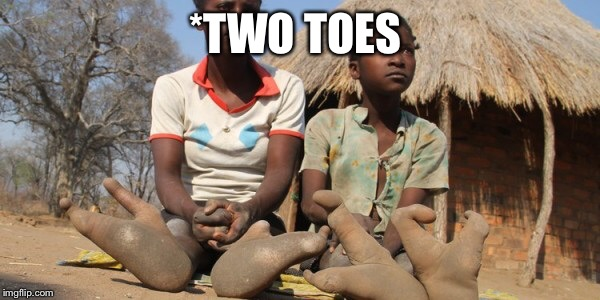 *TWO TOES | made w/ Imgflip meme maker