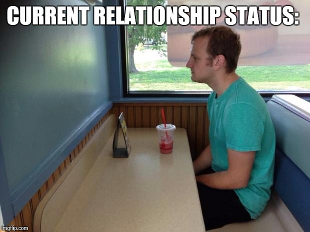 Forever Alone Booth | CURRENT RELATIONSHIP STATUS: | image tagged in forever alone booth | made w/ Imgflip meme maker