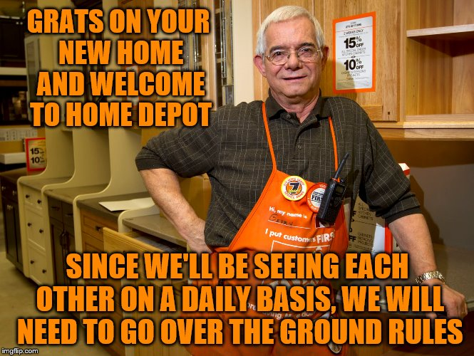 "Our 1st house, we spent more at Home Depot every month than we did on the mortgage. Thanks for the reminder ""88"".  
