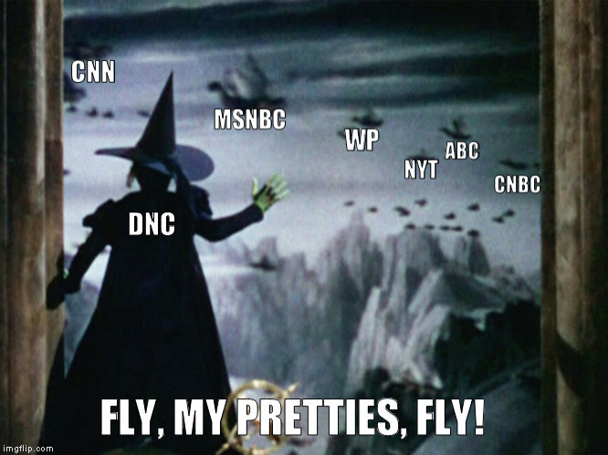 Meanwhile, at the Clinton campaign... | DNC | image tagged in hillary clinton,dnc,biased media | made w/ Imgflip meme maker