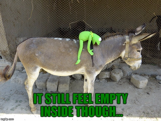 IT STILL FEEL EMPTY INSIDE THOUGH... | made w/ Imgflip meme maker