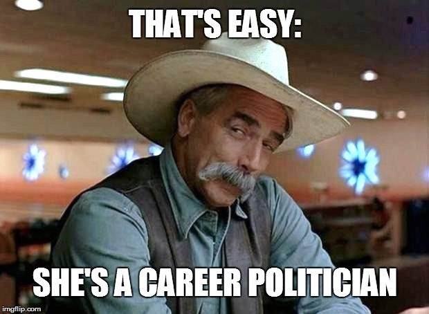 SHE'S A CAREER POLITICIAN THAT'S EASY: | made w/ Imgflip meme maker