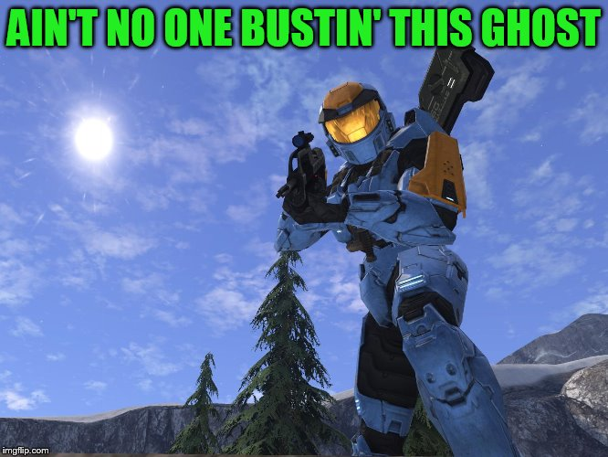 Demonic Penguin Halo 3 | AIN'T NO ONE BUSTIN' THIS GHOST | image tagged in demonic penguin halo 3 | made w/ Imgflip meme maker