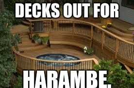 DECKS OUT FOR HARAMBE. | made w/ Imgflip meme maker