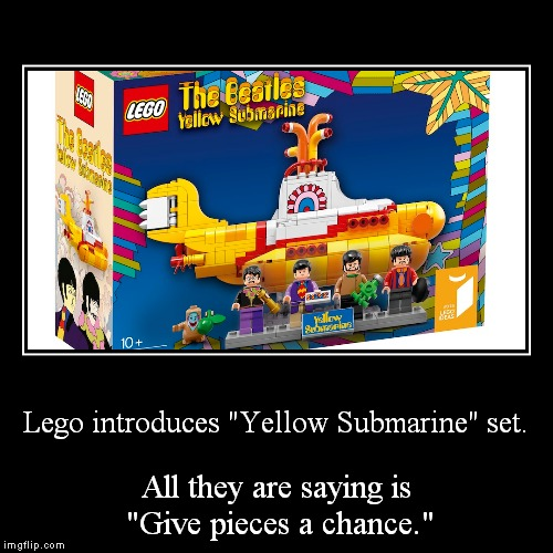 "I know, it was a Lennon solo song, but still funny, no? | Lego introduces ""Yellow Submarine"" set. 