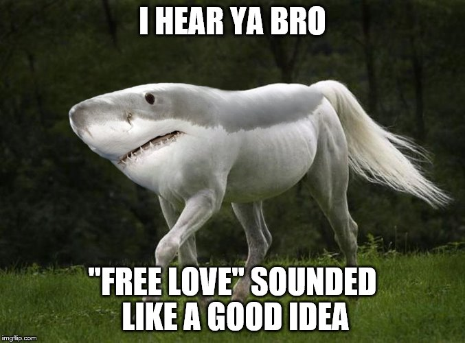 "I HEAR YA BRO ""FREE LOVE"" SOUNDED LIKE A GOOD IDEA 
