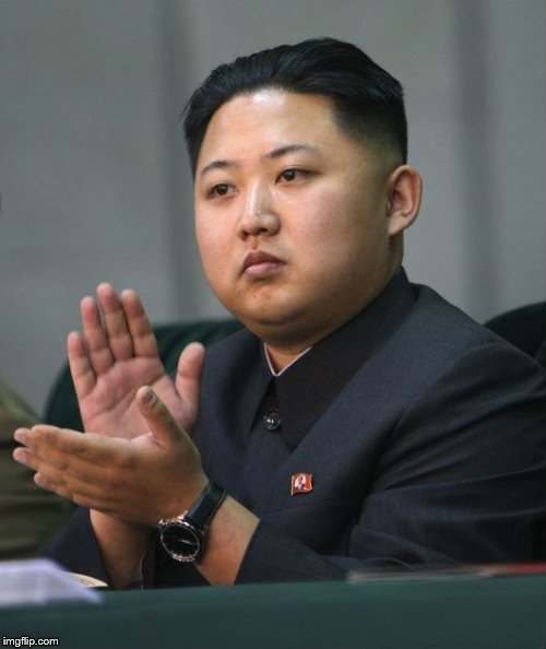 Kim Jong Un - Clapping | . | image tagged in kim jong un - clapping | made w/ Imgflip meme maker