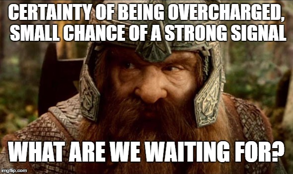 CERTAINTY OF BEING OVERCHARGED, SMALL CHANCE OF A STRONG SIGNAL WHAT ARE WE WAITING FOR? | made w/ Imgflip meme maker