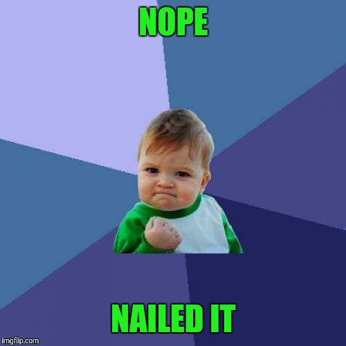 Success Kid Meme | NOPE NAILED IT | image tagged in memes,success kid | made w/ Imgflip meme maker