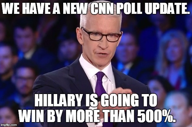 CNN Update: Hillary Clinton's Numbers Are Up.