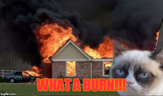 WHAT A BURN!!! | made w/ Imgflip meme maker