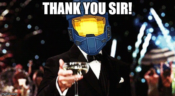 THANK YOU SIR! | image tagged in ghostofchurch cheers | made w/ Imgflip meme maker