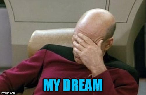 Captain Picard Facepalm Meme | MY DREAM | image tagged in memes,captain picard facepalm | made w/ Imgflip meme maker