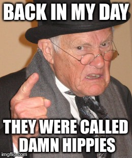 Back In My Day Meme | BACK IN MY DAY THEY WERE CALLED DAMN HIPPIES | image tagged in memes,back in my day | made w/ Imgflip meme maker