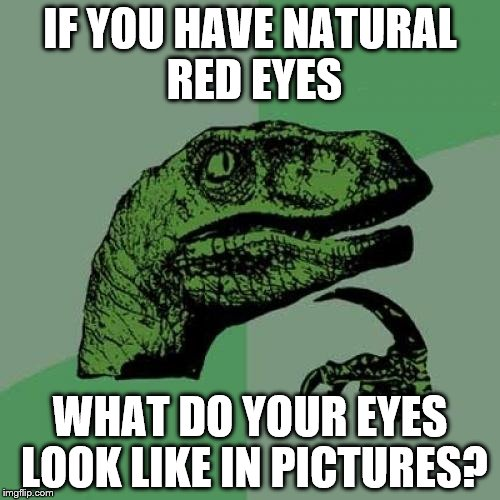 how to add red eyes meme