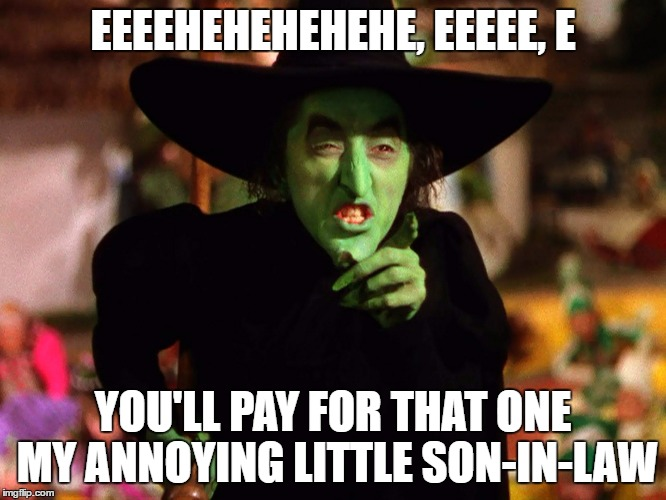 EEEEHEHEHEHEHE, EEEEE, E YOU'LL PAY FOR THAT ONE MY ANNOYING LITTLE SON-IN-LAW | made w/ Imgflip meme maker