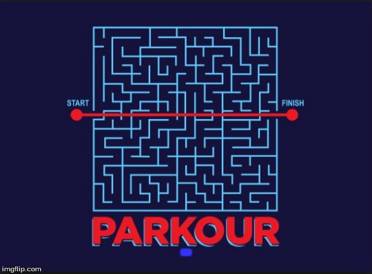 I do parkour | - | image tagged in memes,parkour,maze,screw your rules | made w/ Imgflip meme maker