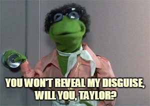 YOU WON'T REVEAL MY DISGUISE, WILL YOU, TAYLOR? | made w/ Imgflip meme maker