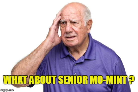 WHAT ABOUT SENIOR MO-MINT ? | made w/ Imgflip meme maker