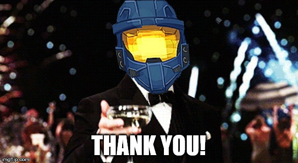 THANK YOU! | image tagged in ghostofchurch cheers | made w/ Imgflip meme maker