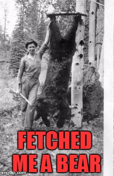 FETCHED ME A BEAR | made w/ Imgflip meme maker