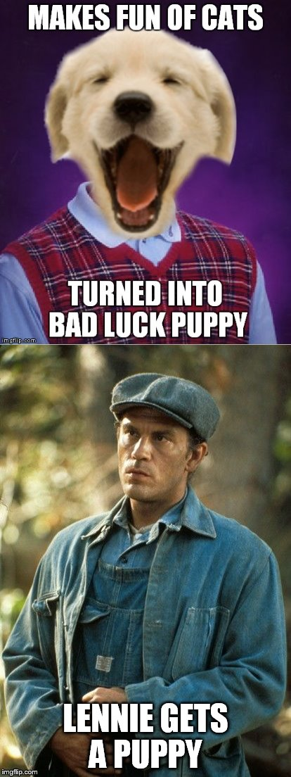 LENNIE GETS A PUPPY | made w/ Imgflip meme maker