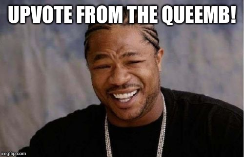 Yo Dawg Heard You Meme | UPVOTE FROM THE QUEEMB! | image tagged in memes,yo dawg heard you | made w/ Imgflip meme maker