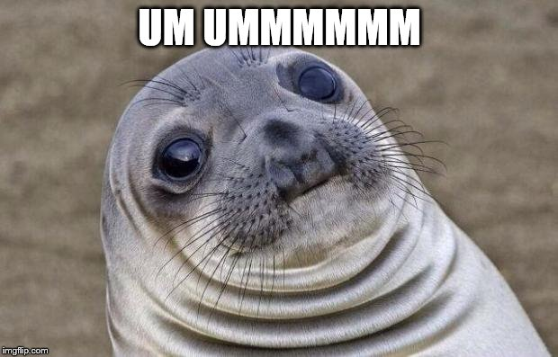 Awkward Moment Sealion Meme | UM UMMMMMM | image tagged in memes,awkward moment sealion | made w/ Imgflip meme maker