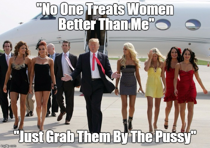 """No One Treats Women Better Than Me"" ""Just Grab Them By The Pussy"" 