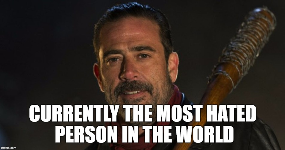 1cviu2 image tagged in the walking dead,negan and lucille,glenn,amc,rip,Negan Meme Generator