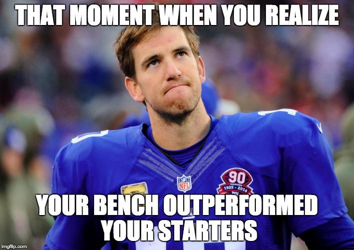 Eli Manning Fantasy Football Fail