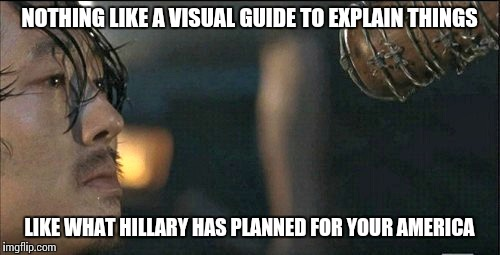 Elections have consequences | NOTHING LIKE A VISUAL GUIDE TO EXPLAIN THINGS LIKE WHAT HILLARY HAS PLANNED FOR YOUR AMERICA | image tagged in vampire bat,shapeshifting lizard,memes,maga,hillary's america | made w/ Imgflip meme maker