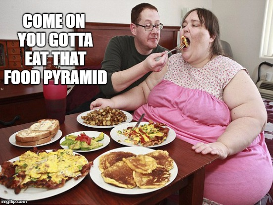 COME ON YOU GOTTA EAT THAT FOOD PYRAMID | made w/ Imgflip meme maker