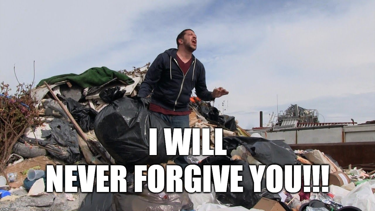 Sal Vuncano (Impractical Jokers) - I will never forgive you! | I WILL NEVER FORGIVE YOU!!! | image tagged in impracticaljokers,sal vulcano,trutv,i will never forgive you | made w/ Imgflip meme maker