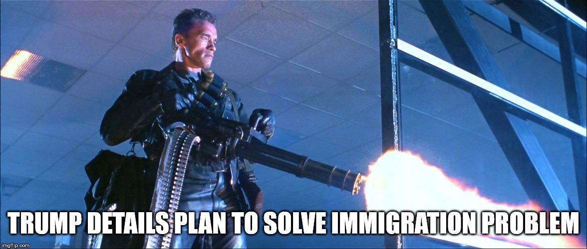 ... donald trump,terminator arnold schwarzenegger | made w/ Imgflip meme