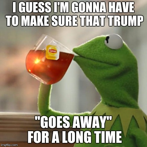 "But Thats None Of My Business Meme | I GUESS I'M GONNA HAVE TO MAKE SURE THAT TRUMP ""GOES AWAY"" FOR A LONG TIME 
