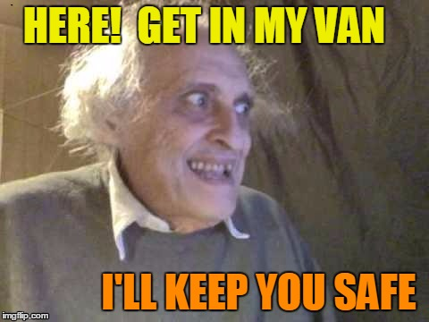 troll | HERE!  GET IN MY VAN I'LL KEEP YOU SAFE | image tagged in troll | made w/ Imgflip meme maker