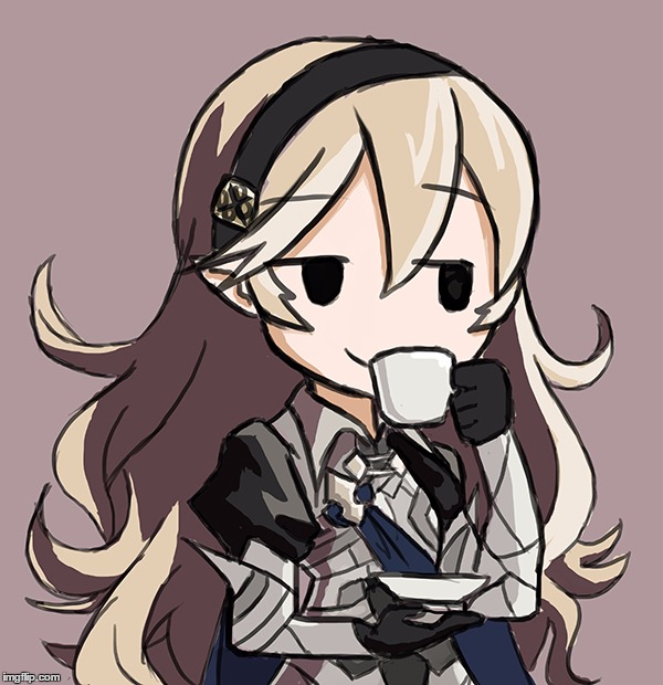 Corrin Being Smug While Drinking Tea | . | image tagged in corrin being smug while drinking tea | made w/ Imgflip meme maker
